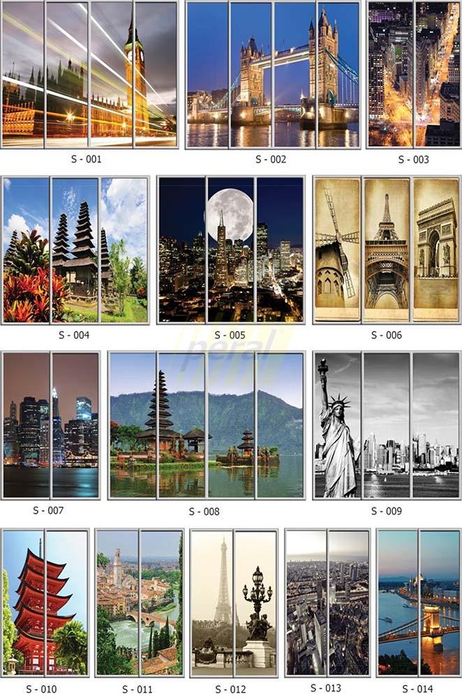 Фотопечать на стекле города 1-14