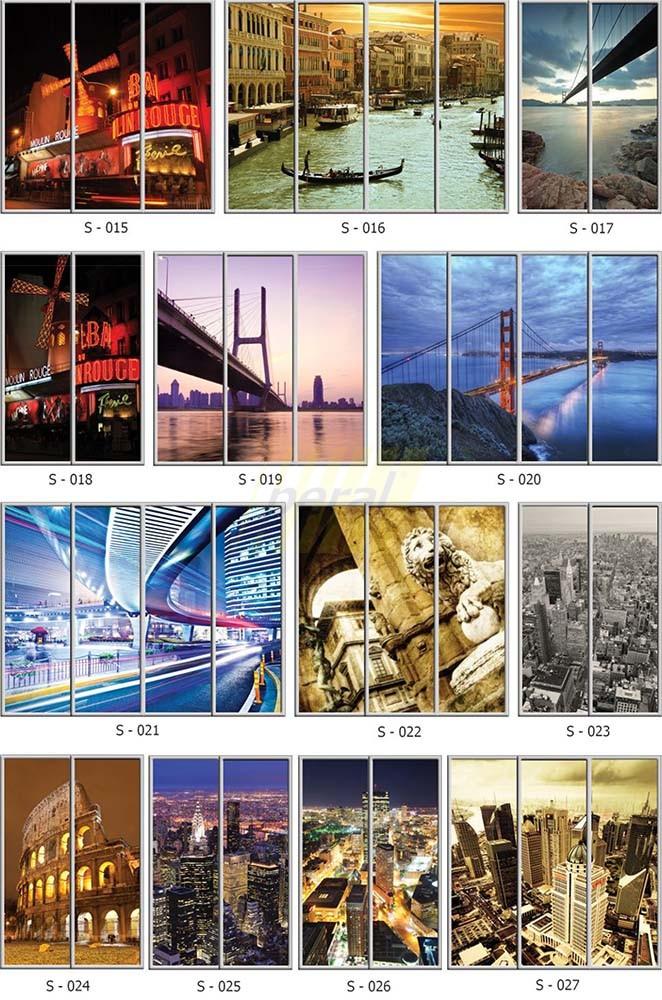 Фотопечать на стекле города 15-27