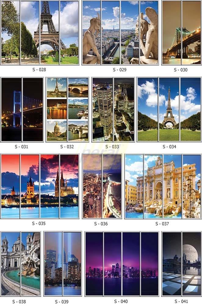 Фотопечать на стекле города 28-41