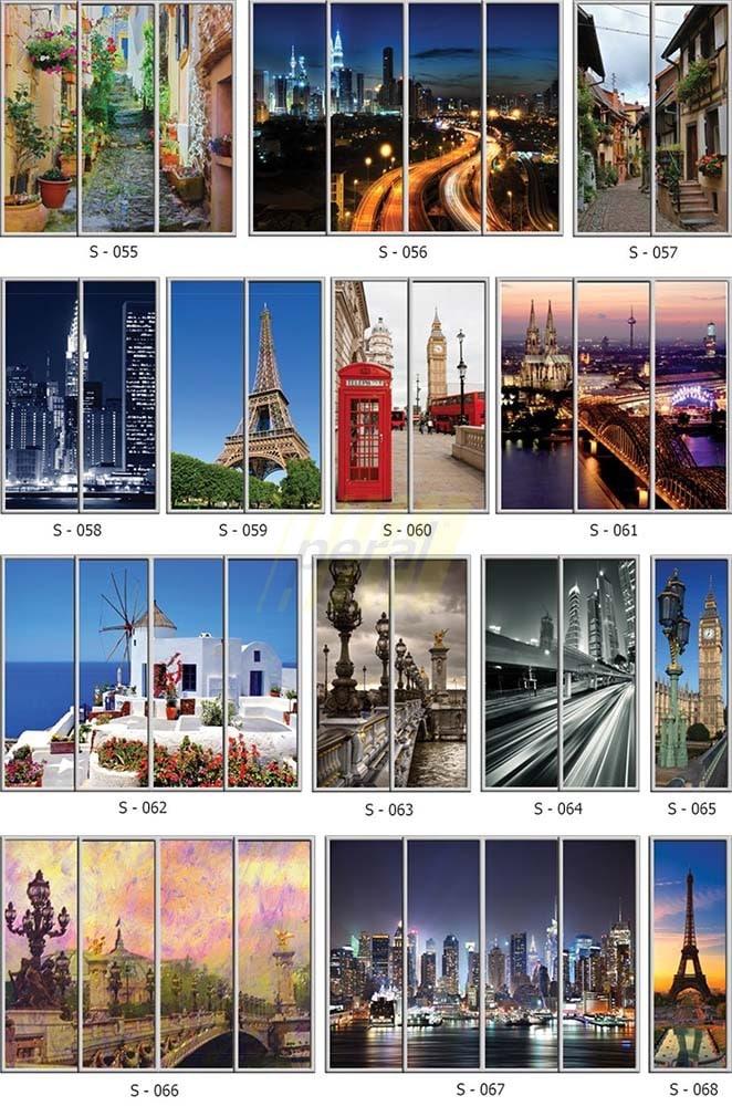 Фотопечать на стекле города 55-68