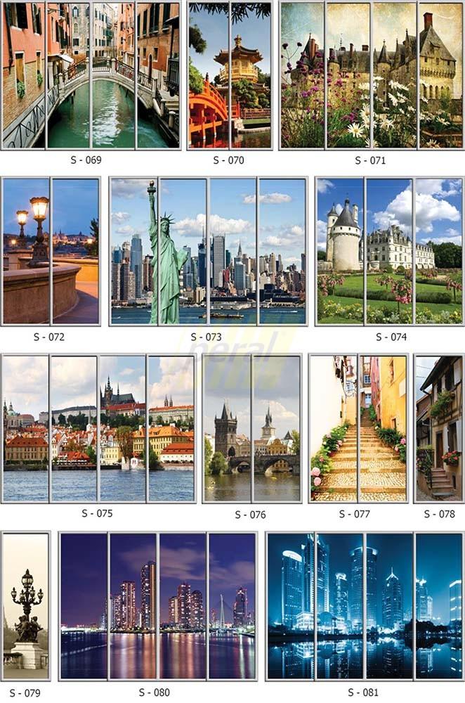 Фотопечать на стекле города 69-81