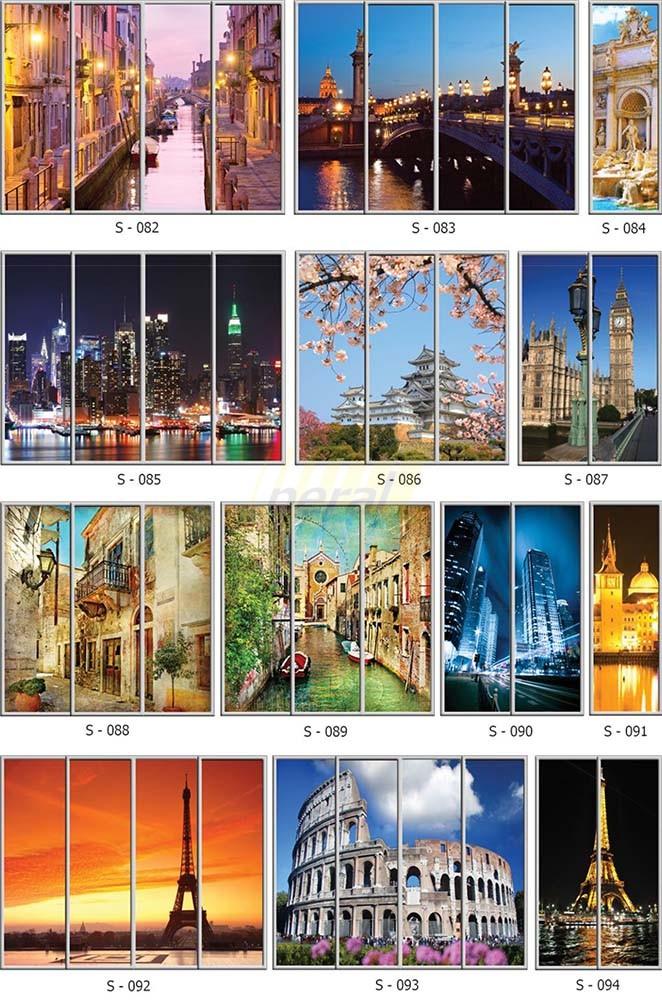 Фотопечать на стекле города 82-94