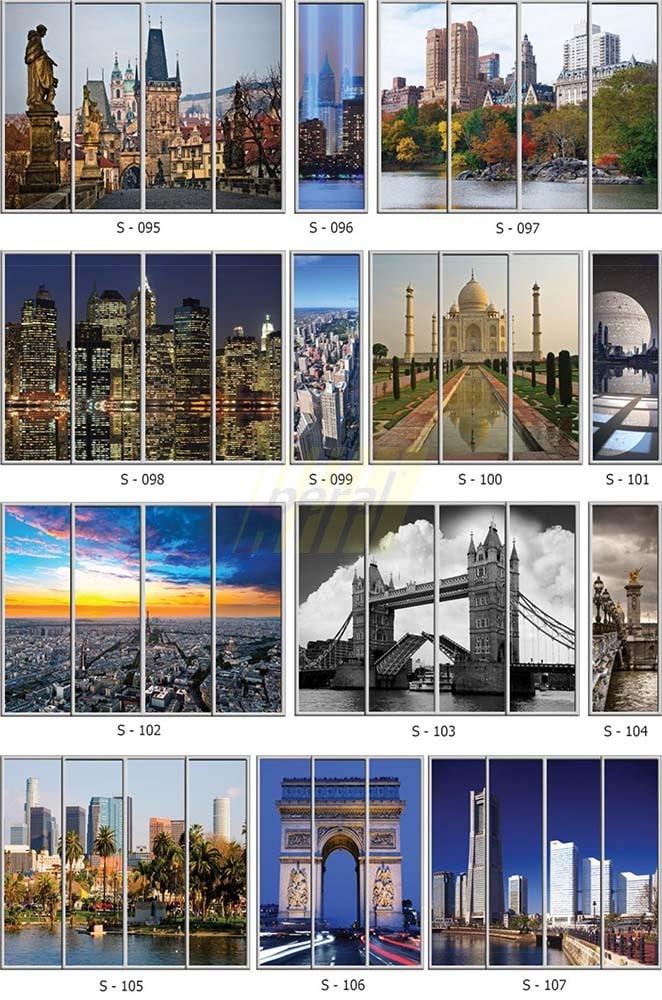 Фотопечать на стекле города 95-107