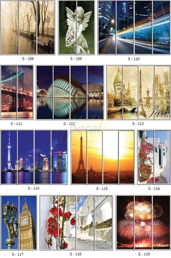 Фотопечать на стекле города 108-119