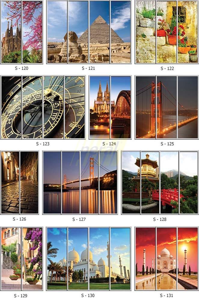 Фотопечать на стекле города 120-131