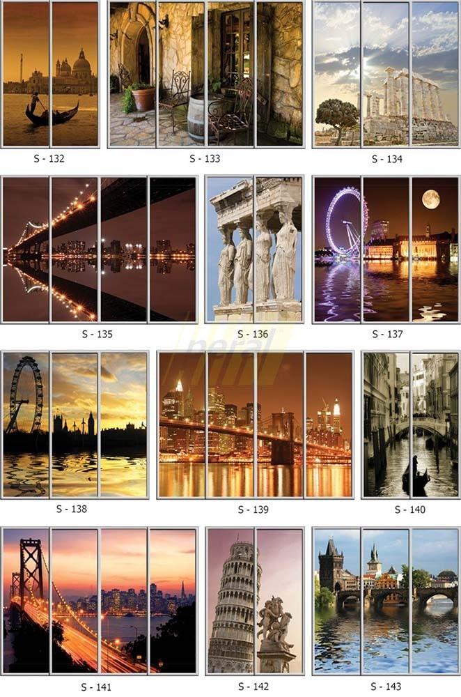 Фотопечать на стекле города 132-143