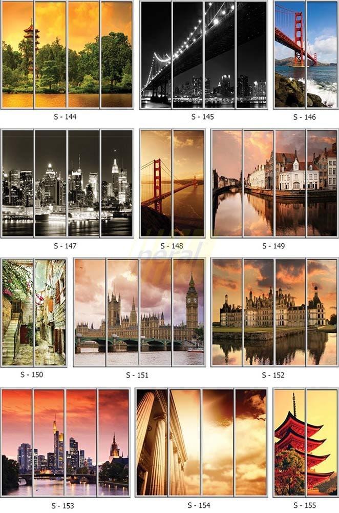 Фотопечать на стекле города 144-155