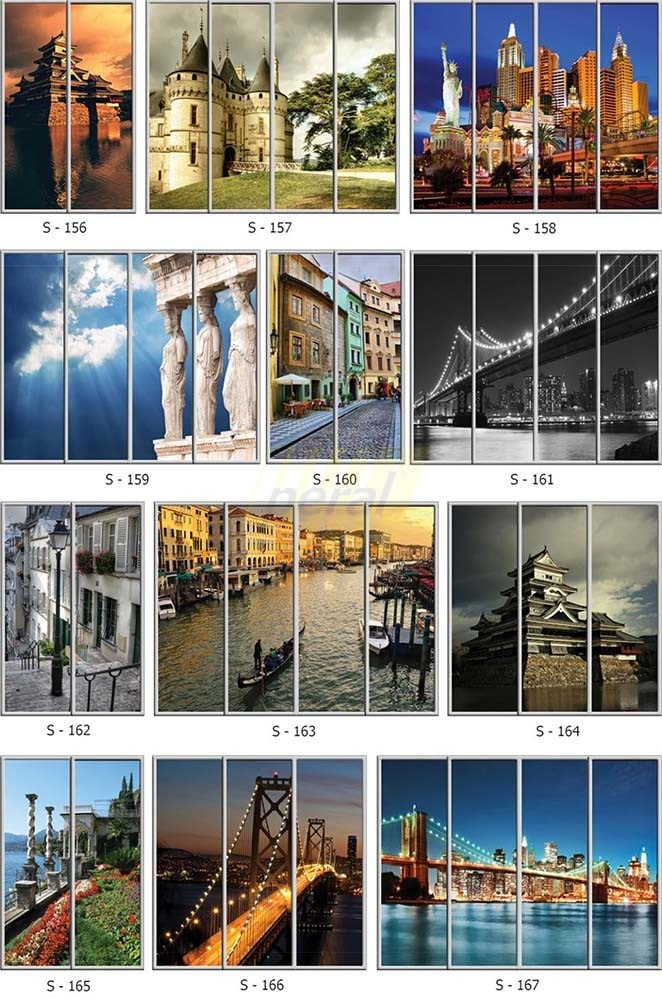 Фотопечать на стекле города 156-167