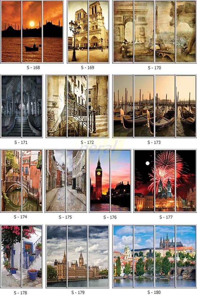 Фотопечать на стекле города 168-180