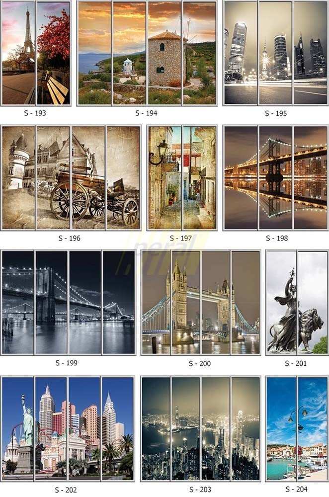 Фотопечать на стекле города 193-204