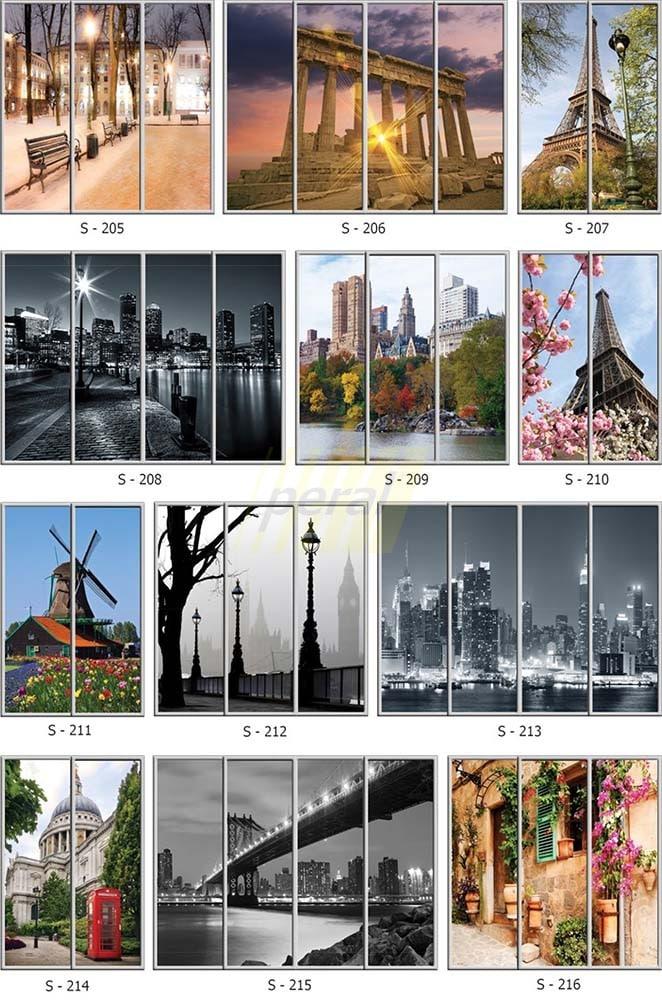 Фотопечать на стекле города 205-216
