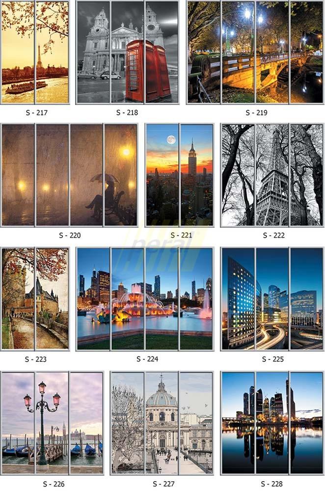 Фотопечать на стекле города 217-228