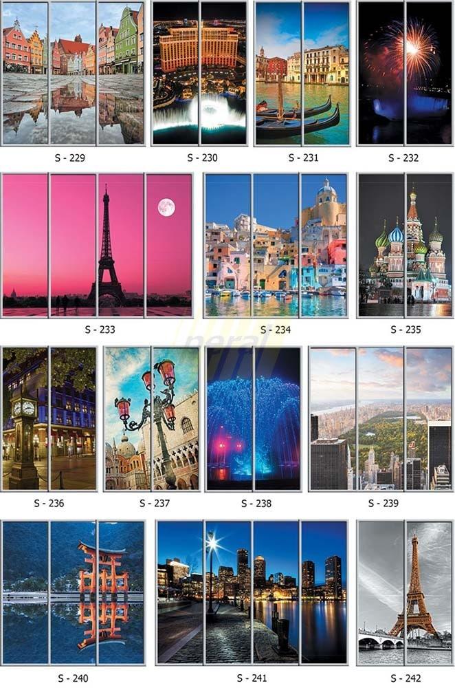 Фотопечать на стекле города 229-242