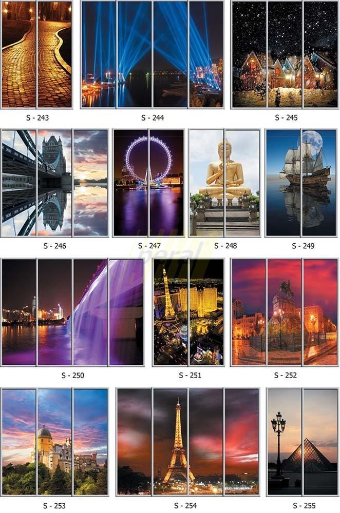 Фотопечать на стекле города 243-255