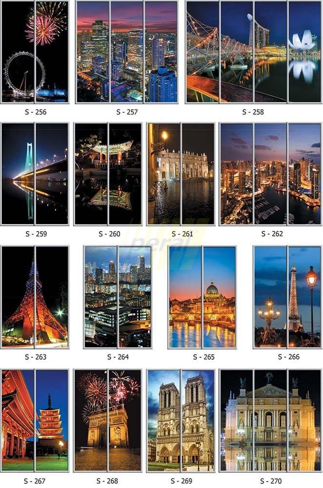 Фотопечать на стекле города 256-270