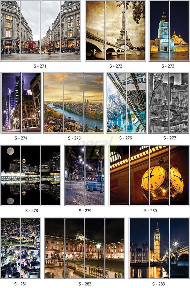 Фотопечать на стекле города 271-283