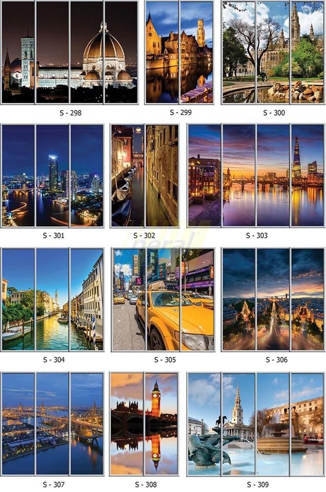 Фотопечать на стекле города 298-309