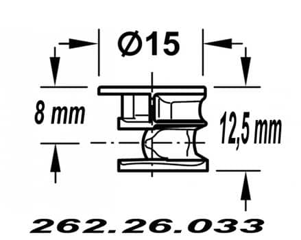 262.26.033 ex - Минификс под 16 мм HAFELE красный