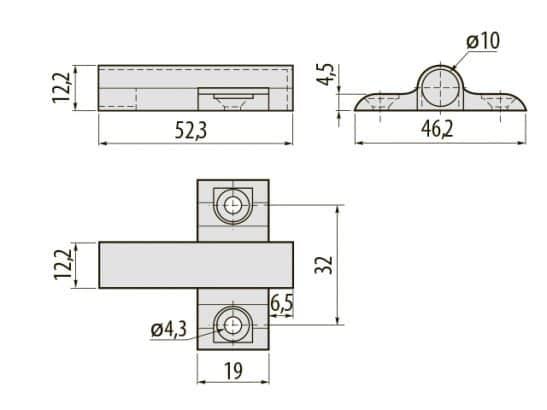 AM ADAP0A 60 1 547x410 - Адаптер к амортизатору крестообразный GTV PRESTIGE AM-ADAP0A-60