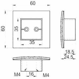 Ручка мебельная GTV UZ 883-016 сатин