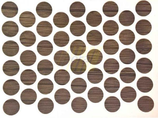 Заглушка самоклеющаяся для конфирмата 0282 дуб шамони темный