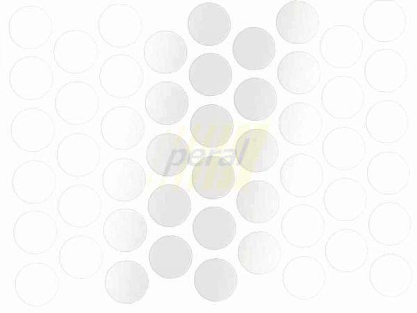 Заглушка самоклеющаяся для конфирмата 0311 белый глянец