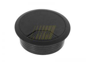 Заглушка кабель-канала черная 60 мм