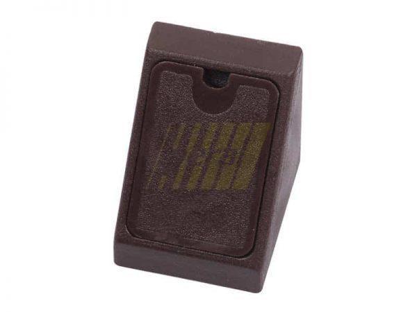 Уголок одинарный пластиковый коричневый венге
