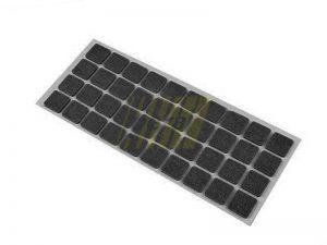 Самоклейка мягкая войлок 20x20 мм квадратная черная 40 шт.