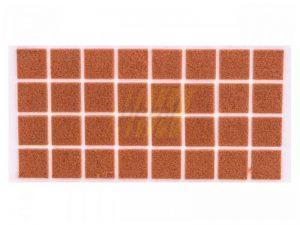 Самоклейка мягкая войлок 25x25 мм квадратная 32 шт.