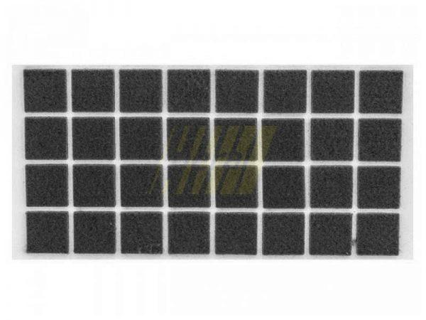 Самоклейка мягкая войлок 25x25 мм квадратная черная 32 шт.