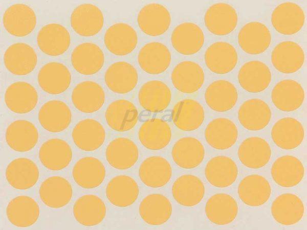 Заглушка самоклеющаяся для конфирмата 5001 желтая