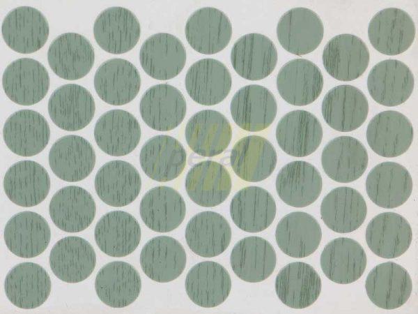 Заглушка самоклеющаяся для конфирмата 6262 зеленая вода