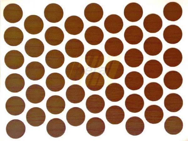 Заглушка самоклеющаяся для конфирмата 7059 орех италия