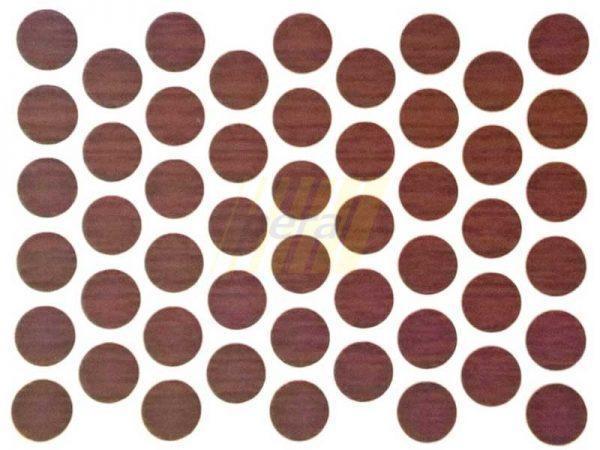 Заглушка самоклеющаяся для конфирмата 7102 махонь-редвуд
