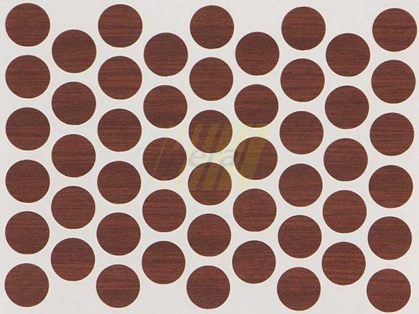 Заглушка самоклеющаяся для конфирмата 7226 орех экко