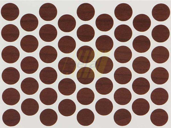 Заглушка самоклеющаяся для конфирмата 7455 орех болонья темный