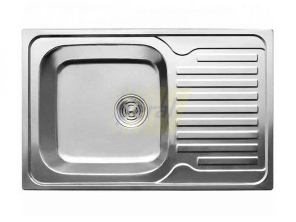 Мойка кухонная Intra прямоугольная с большой площадкой 780х500 мм (7850Г) микродекор