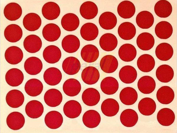 Заглушка самоклеющаяся для конфирмата 9032 красная
