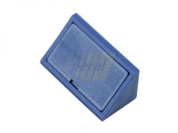 Уголок двойной пластиковый синий