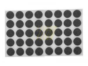 Самоклейка мягкая войлок d=20 мм круглая черная 50 шт.