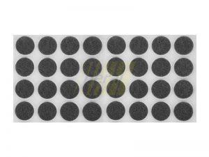 Самоклейка мягкая войлок d=24 мм круглая черная 32 шт.