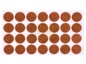 Самоклейка мягкая войлок d=28 мм круглая 28 шт.