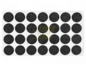 Самоклейка мягкая войлок d=28 мм круглая черная 28 шт.