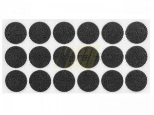Самоклейка мягкая войлок d=35 мм круглая черная 18 шт.