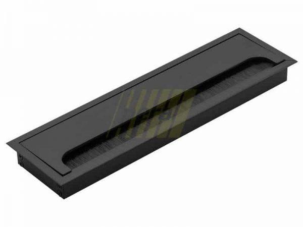 Заглушка кабель-канала GTV 80x280 мм черный
