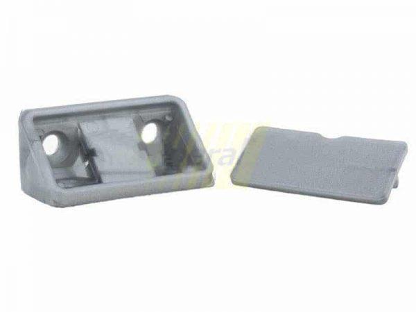 Уголок двойной пластиковый металлик