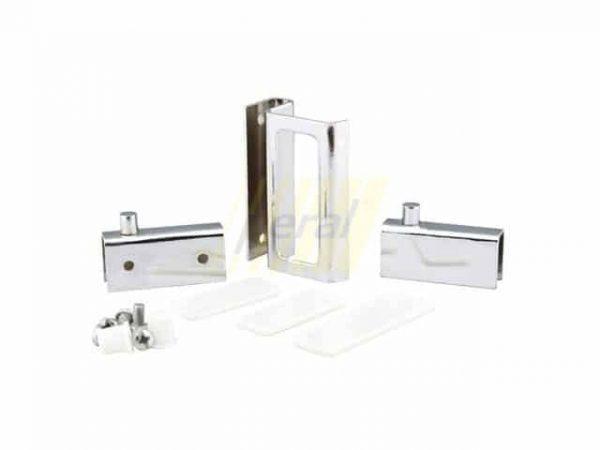 Набор для стеклянной двери ZS 9006 хром