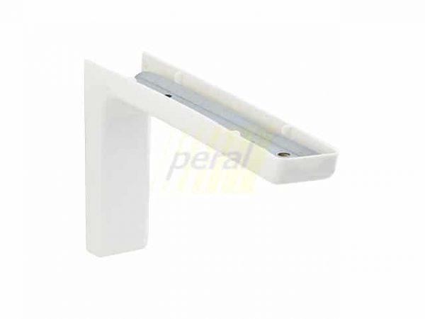 Консоль х120 мм с пластиковой накладкой белая