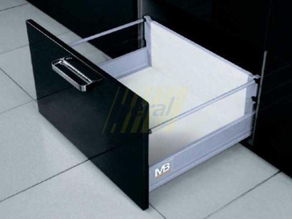 Тандембокс GTV Modernbox высокий серый 450 мм